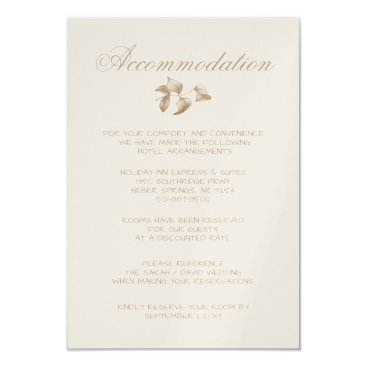 Romantic Gold Botanical accommodation cards
