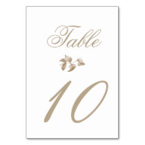Romantic Gold Botanical Wedding Card