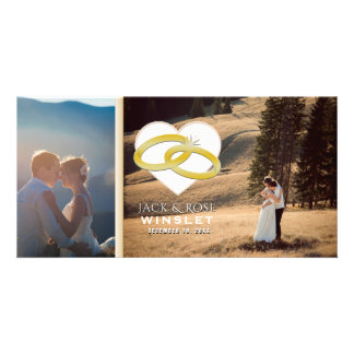 Romantic Gold Wedding Announcement Photo Card