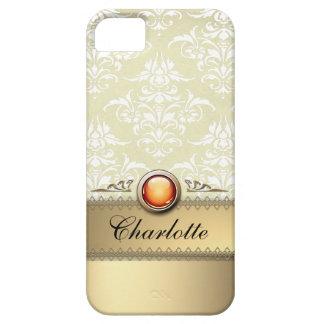 Romantic Golden Damask Pattern personalizable iPhone SE/5/5s Case