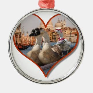 Romantic Gondola Ride (Add Your Text) Christmas Tree Ornaments