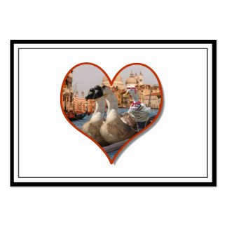 Romantic Gondola Ride for Two Geese Large Business Cards (Pack Of 100)