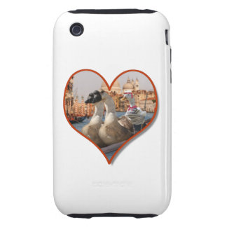 Romantic Gondola Ride for Two Geese iPhone 3 Tough Cover