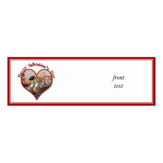 Romantic Gondola Ride for Valentine's Day Business Card Templates