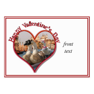 Romantic Gondola Ride for Valentine's Day Business Cards