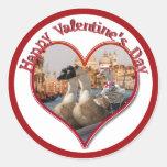 Romantic Gondola Ride for Valentine's Day Classic Round Sticker