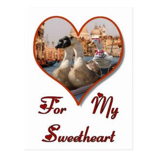 Romantic Gondola Ride Postcard