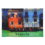 Romantic Gondola Trip on Grand Canal Cloth Placemat