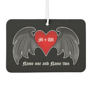 Romantic goth heart air freshener