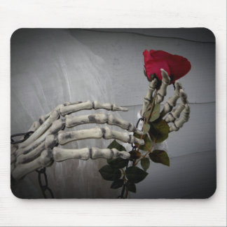 Romantic goth rose mouse pad