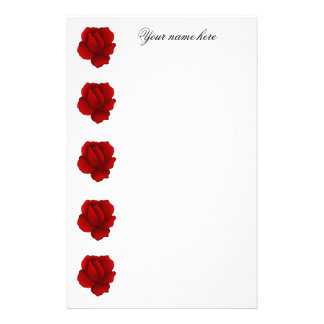 Romantic gothic red rose stationery