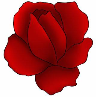 Romantic gothic red rose statuette