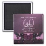 Romantic Gothic Roses & Petals Birthday Magnet