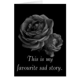 Romantic Gothic Roses Valentine Greeting Card