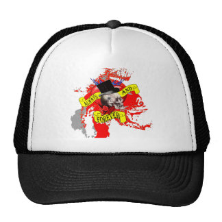 Romantic Gothic skull Valentines heart Hat