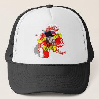 Romantic Gothic skull Valentines heart Trucker Hat