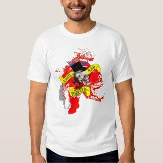 Romantic Gothic Skull Valentines love heart T-Shirt