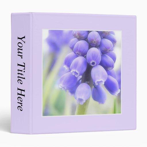 Romantic Grape Hyacinth Flowers Vinyl Binders