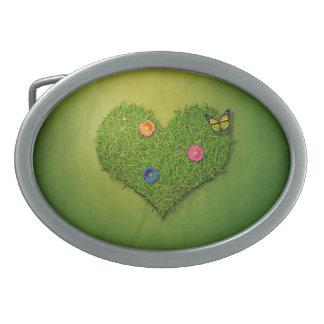 Romantic Grass Heart - Belt Buckle