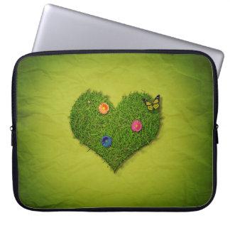 Romantic Grass Heart - Laptop Sleeve