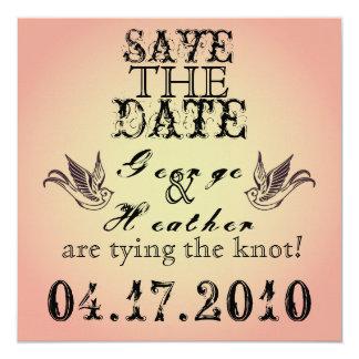 Romantic Grunge  Save the Date... Invitation