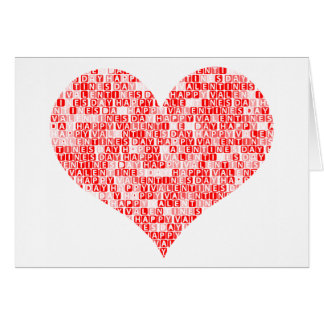 Romantic Happy Valentine´s Day Heart Greeting Card