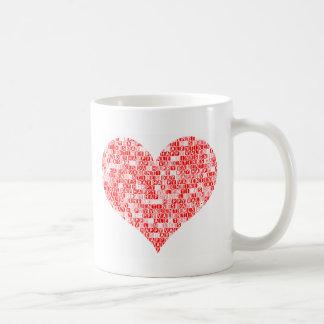 Romantic Happy Valentine´s Day Heart Coffee Mug