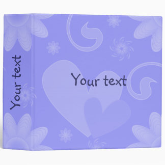 Romantic heart and flower design binder