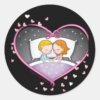 Romantic-heart Classic Round Sticker