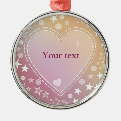 Romantic heart design christmas ornaments