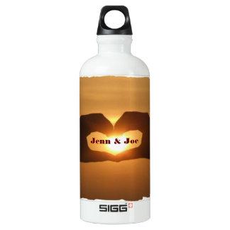 Romantic Heart Hands Custom SIGG Traveler 0.6L Water Bottle