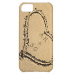 Romantic Heart in Sand Initials Personalized iPhone 5C Cover