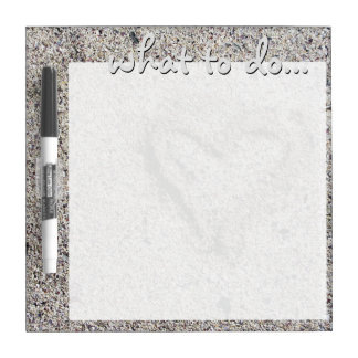 Romantic Heart in Sand Photo Dry Erase Board