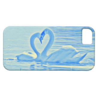 Romantic Heart-Kiss Swans In Blue & Yellow Aura iPhone SE/5/5s Case