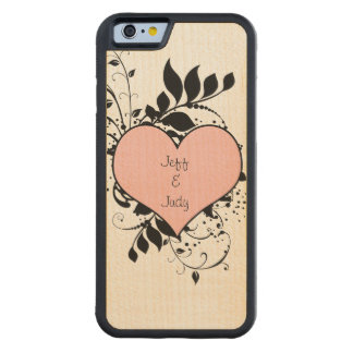 Romantic Heart Love Carved® Maple iPhone 6 Bumper
