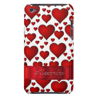 Romantic heart pattern personalized Case-Mate iPod touch case