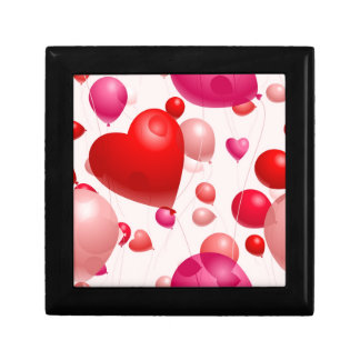 Romantic-Heart-Shaped-Balloons- PINK RED HEART SHA Jewelry Boxes