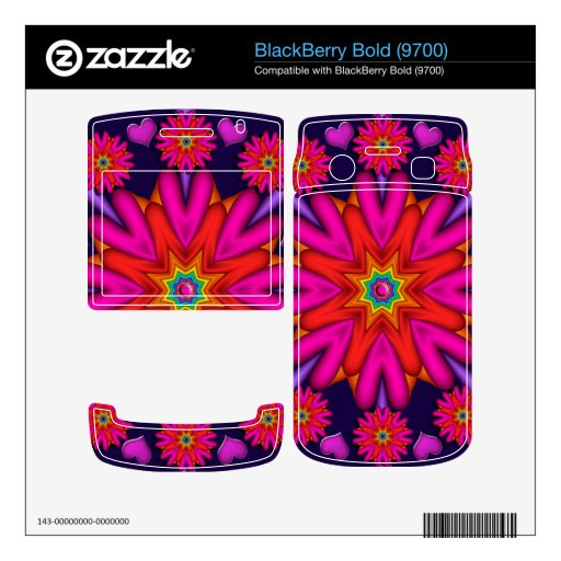Romantic Heart-shaped flowers Blackberry bold skin