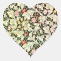 Romantic Heart Vintage Floral Heart Sticker