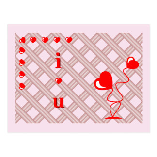 Romantic heart with pink background postcard