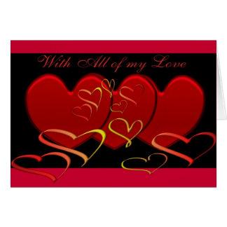 Romantic Hearts Card