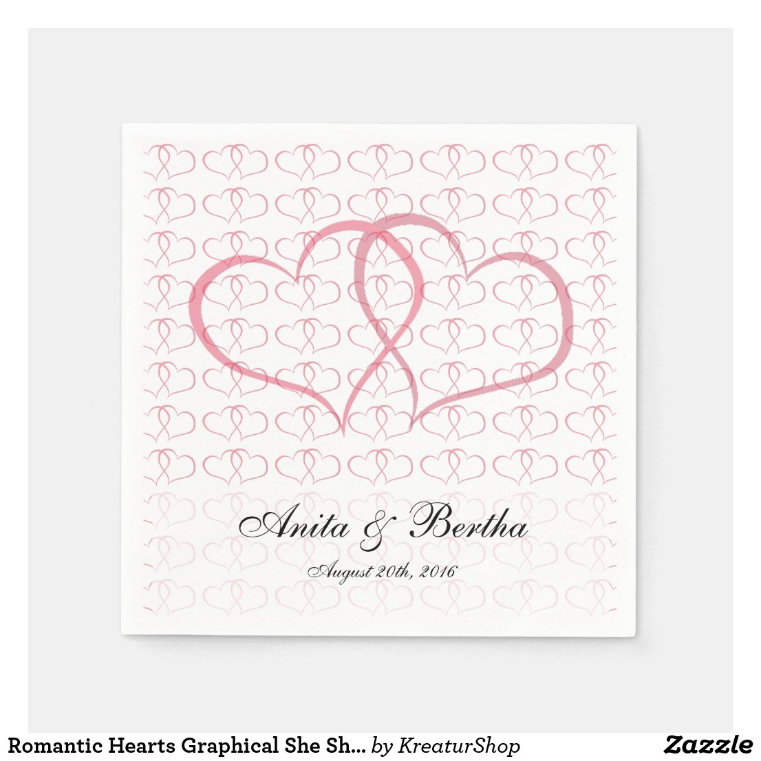 Romantic Hearts Graphical She She Pink