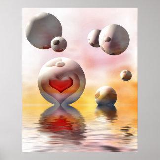 romantic hearts poster