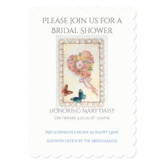 Romantic Hearts & Roses Bridal Shower Card