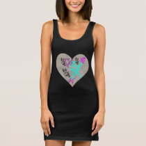 Romantic Hearts Sleeveless Dress