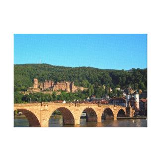 Romantic Heidelberg castle Stretched Canvas Print