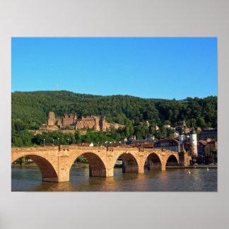 Romantic Heidelberg castle Posters