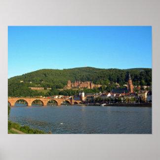 Romantic Heidelberg castle Print
