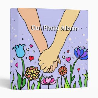 Romantic Holding Hands - dating / anniversary gift 3 Ring Binder