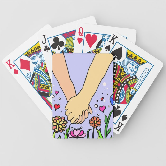 Romantic Holding Hands - dating / anniversary gift Bicycle Playing Cards